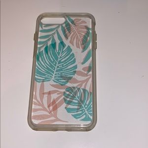 Clear palm leaf Otterbox case